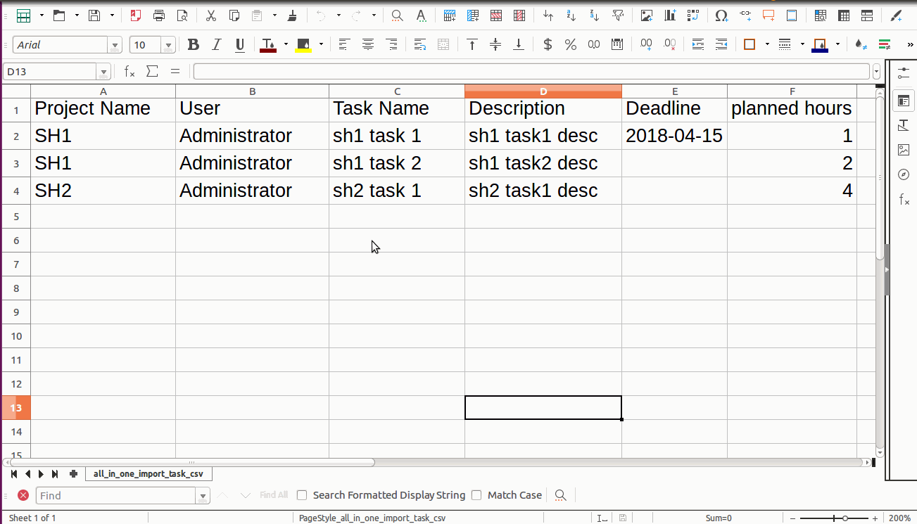 Import Task From CSV Odoo, Import Task From excel Odoo
